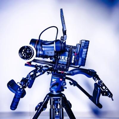 RED Epic-M Dragon w/ Tokina 50-135mm lens and shoulder rig