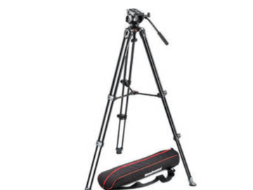 Rent: Manfrotto MVH500A Fluid Drag Video Head with MVT502AM Tripod
