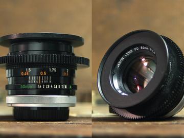 Rent: Vintage Canon FD Lens Set