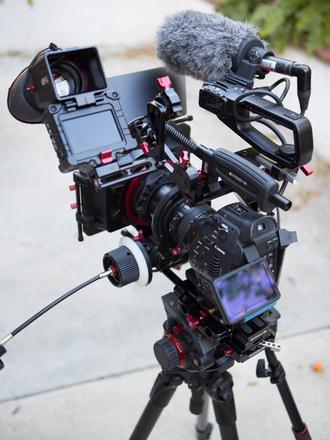 (2) Canon C100s Camera interview Kit