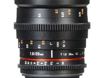 Rent: Rokinon Cine DS Set 20, 35, 50, 85, Tokina 11-16mm Canon EF