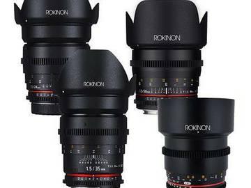 Rent: Rokinon Cine Prime Lens Package 24, 35, 50, 85mm
