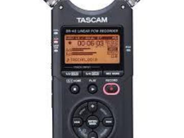 Rent: Tascam DR-40 Handheld Audio Recorder