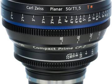 Rent: Zeiss CP2 50mm/ T1.5 EF Mount