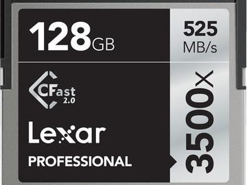 4x 128GB CFast 2.0 Cards