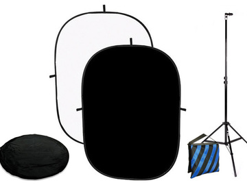 Rent: 5 x 7 Black / White Collapsible Background Kit