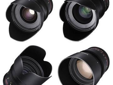 Rent: Rokinon 24, 35, 50, 85mm T1.5 Cine DS Lens Bundle (Canon EF)