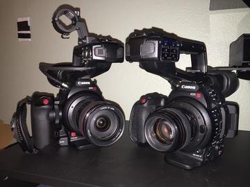 Rent: Dual Canon EOS C100 Mark II Cinema Cameras