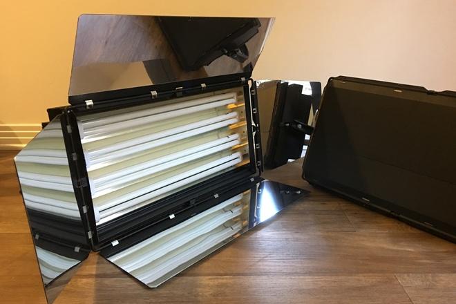 Cool Lights 4bank 2ft Kit (x2 lights - like Kinoflo Diva)