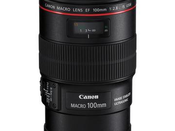 Rent: Canon 100mm f/2.8 MACRO L IS LENS