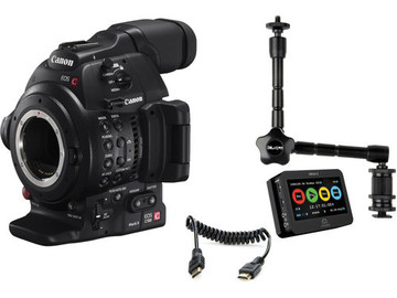 Canon C100 Mark ii Cinema Camera w/ Atomos Ninja 2 Kit #1