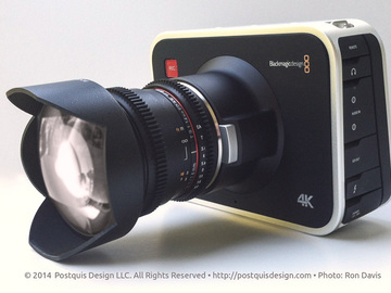 Rent: Blackmagic 4K  Production Camera w/SSD /Hard Case/Lens