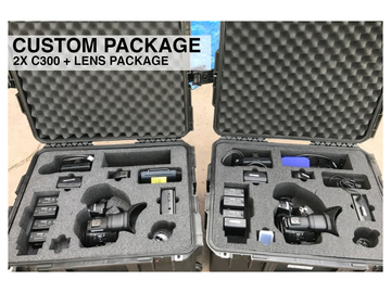 Rent: 2x Canon C300 Mark i + Lens Custom Package