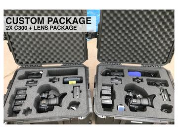 Rent: 2x Canon C300 Mark i + Lens Custom Package