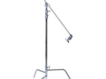 "Rent: Matthews 40"" C-Stand w/ Turtle Base (Silver)"