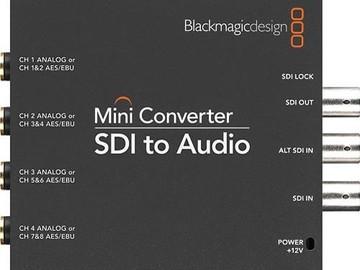 Rent: Blackmagic SDI to Audio Converter