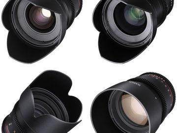 Rent: Rokinon Cine Lens Set ( SONY E- MOUNT )