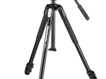 Rent: Manfrotto MT190X3 3-Section Aluminum Tripod with MVH500AH Fl