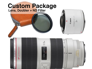 Rent: Canon 70-200mm w/ Doubler & Variable ND Custom Package