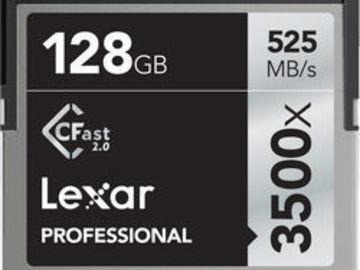 Rent: 4X 128GB Sandisk Extreme Pro CFast 2.0