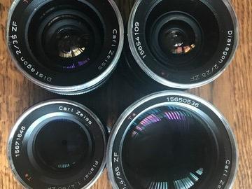 Rent: Zeiss Classic Distagon Lens Set