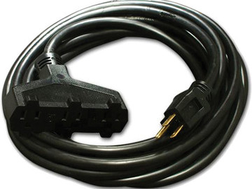 Rent: 25' Stinger w/ Triple Tap (12 AWG, Black)