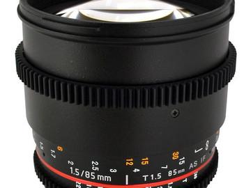 Rent: Rokinon 85mm T1.5 Cine Lens for Canon EF