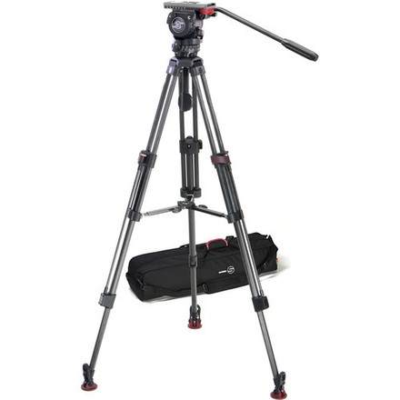 Sachtler FSB-6T Head with 75CF Tripod and Mid-Level Spreader