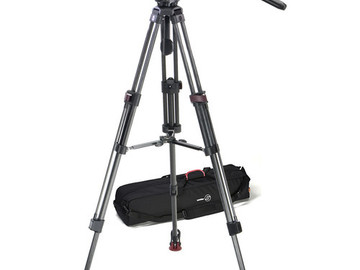 Rent: Sachtler FSB-6T Head with 75CF Tripod and Mid-Level Spreader