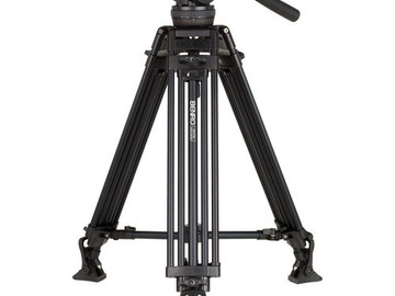 Rent: Benro H10 fluid head Video Tripod Kit with Aluminum Alloy Le