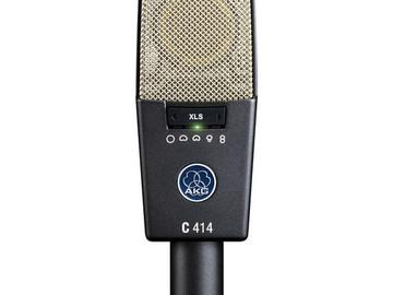Rent: (1) AKG C414 XLS ST Multi-Pattern Large-Diaphragm Condenser