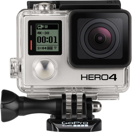 GoPro Hero4 Black with two 64BG micro SD cards, 3 batteries