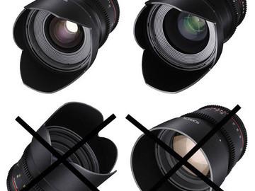 Rent: Rokinon 24  & 35mm T1.5 Cine DS Lens Kit for Canon EF