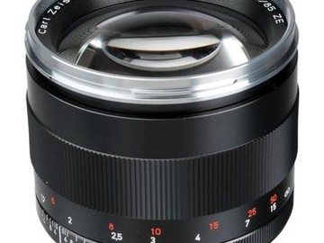 Zeiss Telephoto 85mm f/1.4 ZE Planar T* Manual Focus Lens fo