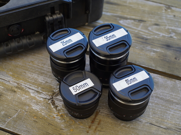 Rent: Zeiss ZE EF Mount Prime Set - 25mm, 35mm, 50mm, 85mm