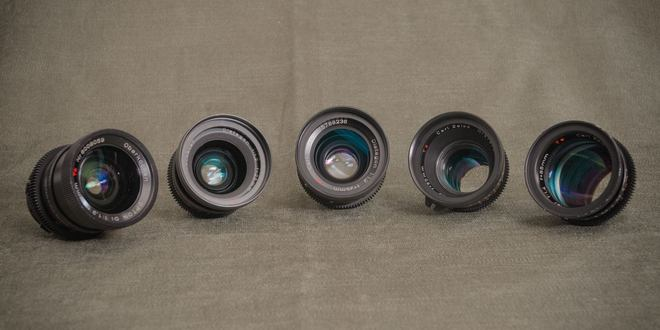 "Zeiss ""B-Speed"" Super Speed Lens Set"