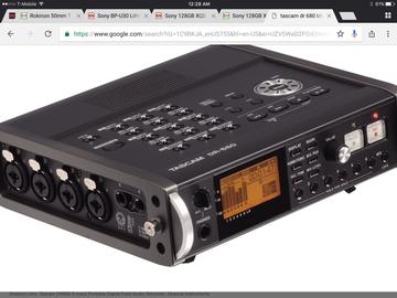 Rent: Tascam DR-680 8-Track Portable Multichannel Digital Recorder