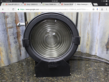 Rent:  750W fresnel studio light with TVMP light stand mount
