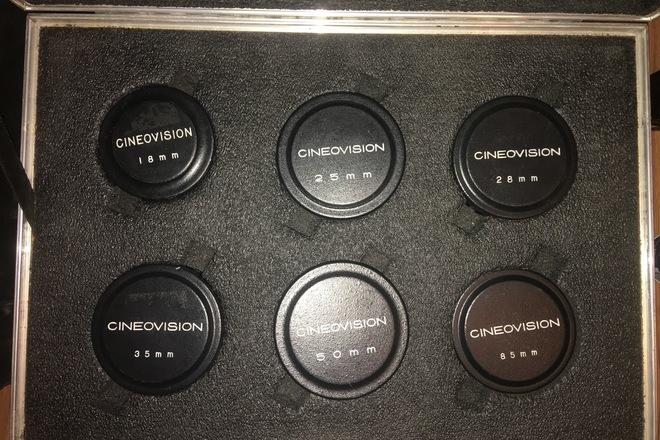 Cineovision Prime lens set of 6 T1.4 (uncoated) Vintage
