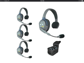 Rent: Eartec UL4S UltraLITE 4-Person Headset System with Batteries