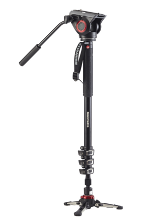 Manfrotto  Fluid Monopod with 500 Series Head