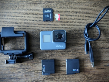 GoPro HERO5 set (w/ head mount, chest mount, and more)