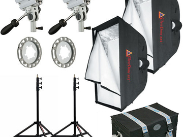 TWO 1K Starlite Softboxes