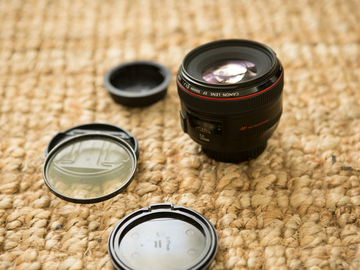 Canon EF 50mm f/1.2 L USM w/ UV filter
