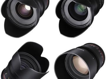 (22) Rokinon 24, 35, 50, 85mm T1.5 Cine DS Lens Bundle for