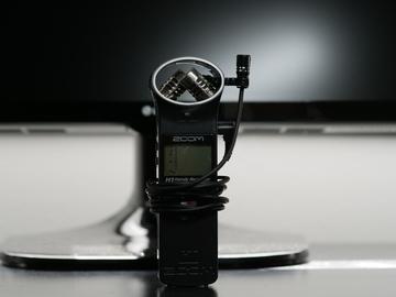 Rent: (1) Zoom H1 Portable Audio Recorders + (1) Azden Lav Mics