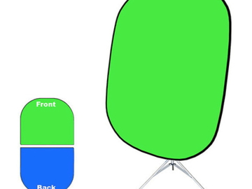 "Rent: Collapsible Green/Blue Screen-Chroma Green 60""x72"""