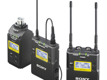 Rent: Sony Lavaliere Mic Wireless system with Tx and Rx UWP-D16