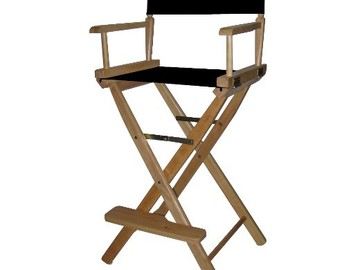 Rent: Director Chair Tall or Make up folding chair 1 of 4