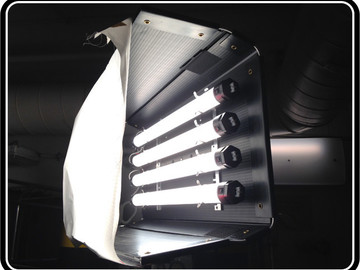 "2' x 4 bank Quasar Science LED tube ""fatboy"""
